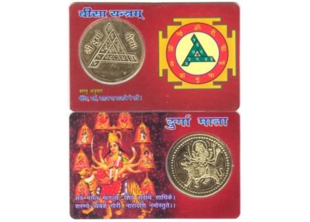 Карта с монетой «Дурга»