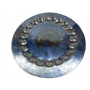 Декоративная тарелка на стену «Королевский павлин»