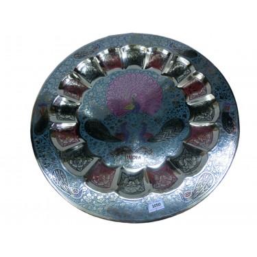 Декоративная тарелка на стену «Красующийся павлин»