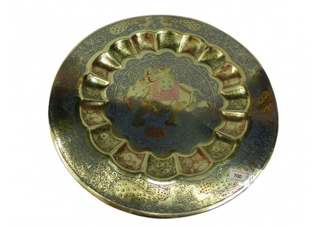 Декоративная тарелка на стену «Лучник на слоне»