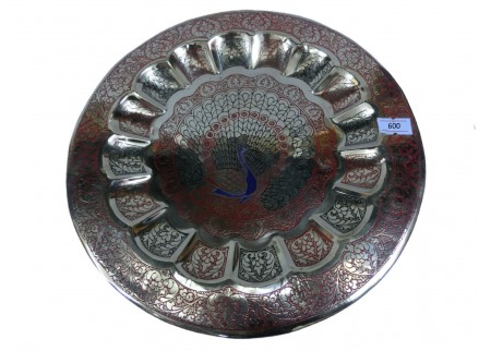 Декоративная тарелка на стену «Павлин»