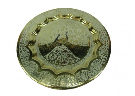 Декоративная тарелка на стену «Павлины»