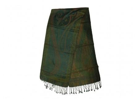 Шелковый жаккард, шарф «Бирюза»