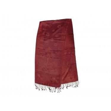 Жаккардовый, шелковый шарф «Малинка»