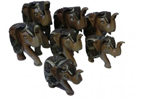 Набор статуэток «Слоны нарядные»