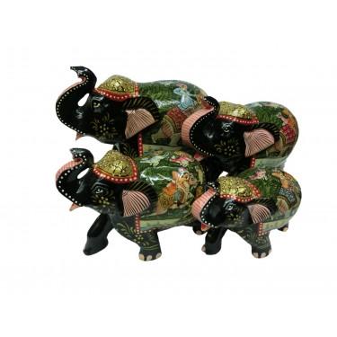 Набор статуэток  «Слоны с поднятым хоботом»