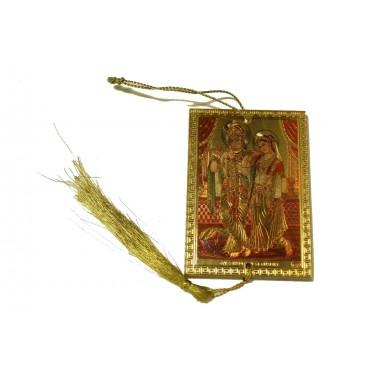 Оберег - Кришна с Радхой в царских покоях