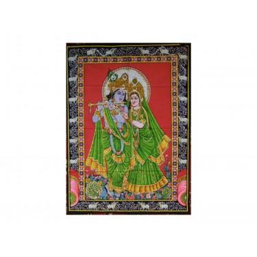 Панно - Кришна с Радхой на закате