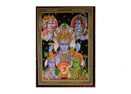 Панно - Брахма, Вишну, Шива, Рам и Кришна