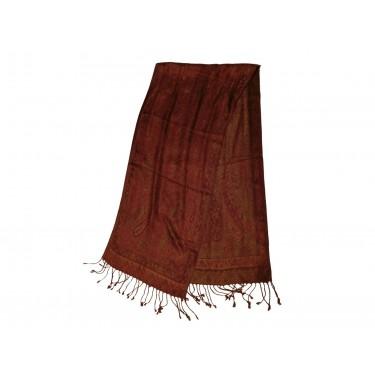Шелковый жаккард, шарф «Раскалённые угольки»