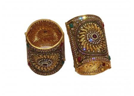 Широкий комплект браслетов  «Солнце»