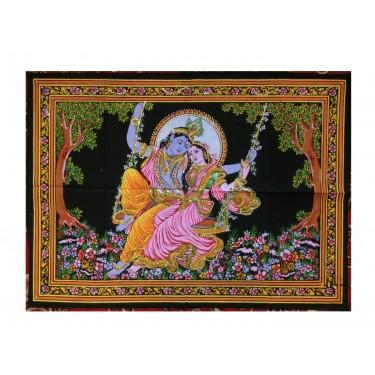 Панно - Кришна с Радхой на качелях