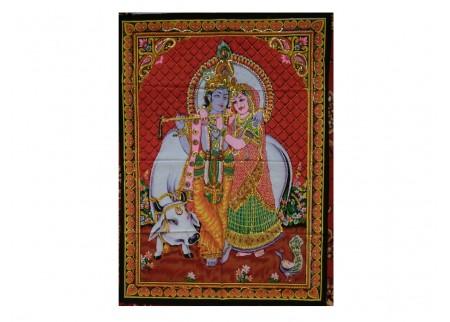 Панно - Кришна играет для Радхи