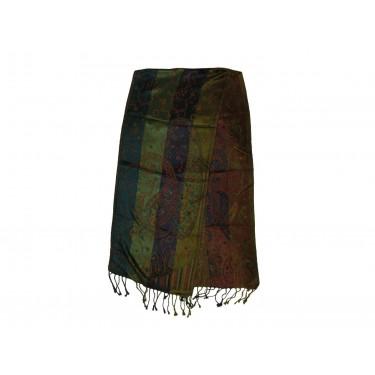 Шелковый жаккард, шарф «Морские переливы»