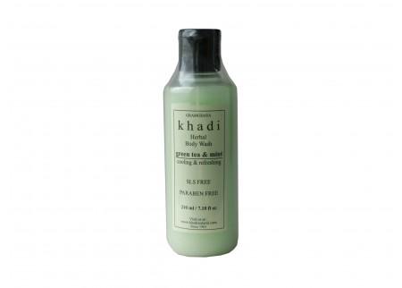 Травяной гель  «Зеленый Чай - Мята», Khadi