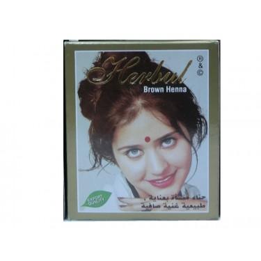 Хна коричневая Herbul Henna Brawn, 6x10г