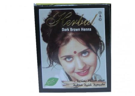 Хна темно-коричневая Herbul Henna Dark Brown, 6x10г