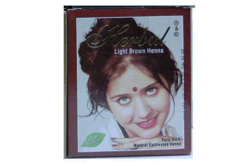 Хна светло-коричневая Herbul Henna Light Brown, 6x10г