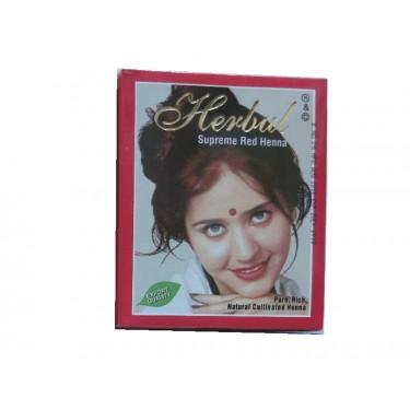 Хна величественно-красная Herbul Henna Supreme Red, 6x10г