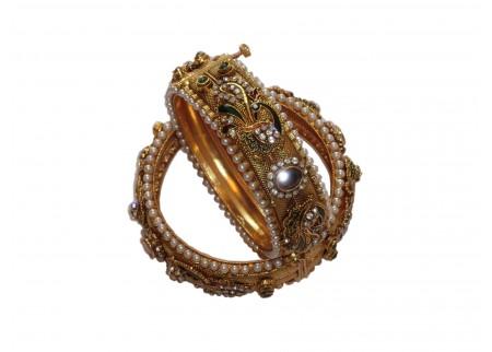 Комплект браслетов «Павлины»