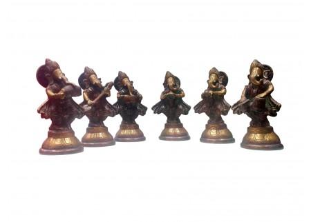 Комплект из шести статуэток «Ансамбль Ганеша»